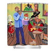 A Funky Kind-a-party Shower Curtain