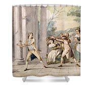A Game Of Blind Mans Buff, C.late C18th Shower Curtain