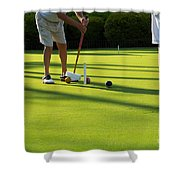 A Game Of Croquet Shower Curtain