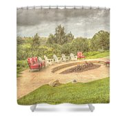 A Gathering Of Friends Shower Curtain