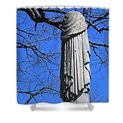 A General's Draped Monument Shower Curtain