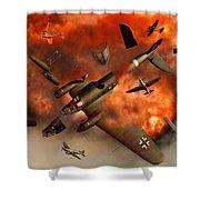 A German Heinkel Bomber Plane Blowing Shower Curtain