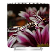 A Gift Amongst The Flowers Shower Curtain