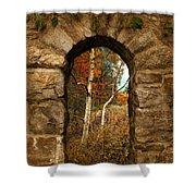 A Gimpse Of Autumn Shower Curtain