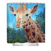 A Giraffe For Ori Shower Curtain