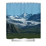 A Glacier Receding Shower Curtain
