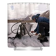 A Glaciologist Tinkers With A Steam Shower Curtain
