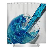 A Glass Of Rain Shower Curtain