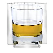 A Glass Of Whisky Or Whiskey Isolated Shower Curtain