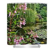 A Glimpse Of Monet's Pond At Giverny Shower Curtain