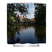 A Glimpse Through The Trees - Bruges Belgium Shower Curtain