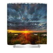 A Glorious Minneapolis Sunset Shower Curtain