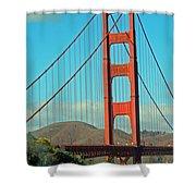A Golden Gate View Shower Curtain