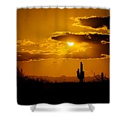 A Golden Southwest Sunset  Shower Curtain