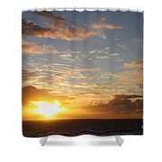 A Golden Sunrise - Singer Island Shower Curtain