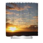 A Golden Sunrise - Singer Island Shower Curtain