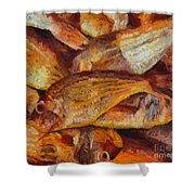 A Good Catch Of Fish Shower Curtain