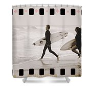 A Good Day To Surf Shower Curtain