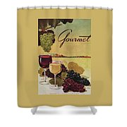 A Gourmet Cover Of Wine Shower Curtain