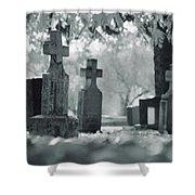 A Graveyard Shower Curtain
