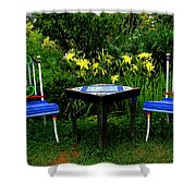 A Great Place For Lunch Shower Curtain