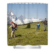 A Group Of Hikers In The Selkirk Shower Curtain