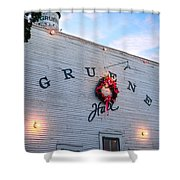 A Gruene Christmas Shower Curtain