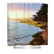 A Gualala Getaway  Shower Curtain