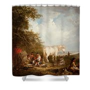 A Gypsy Scene Shower Curtain