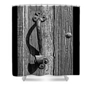 A Handle On It - Bw Shower Curtain