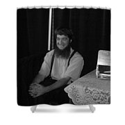 A Happy Amish Guy Shower Curtain