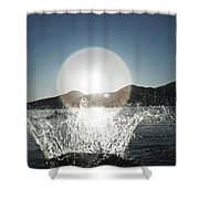 A Happy Young Women Canon Balls Shower Curtain