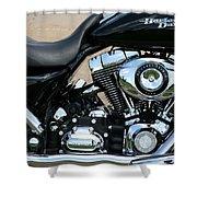 A Harley In Arlington Shower Curtain