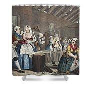 A Harlots Progress, Plate Lv Scene Shower Curtain