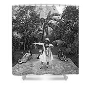 A Hawaiian Woman Dancing Shower Curtain