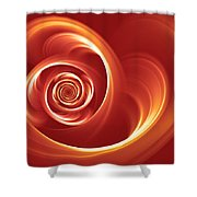 A Heart In Turmoil Shower Curtain