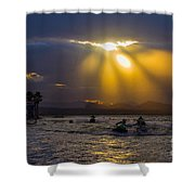A Heavenly Display Shower Curtain