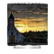 A Heavenly Morning  Shower Curtain