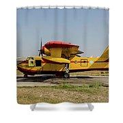 A Hellenic Air Force Canadair Cl-215 Shower Curtain