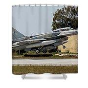 A Hellenic Air Force F-16d Block 52+ Shower Curtain