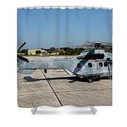 A Hellenic Air Force Super Puma Search Shower Curtain