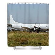 A Hellenic Navy P-3 Orion Aew Aircraft Shower Curtain