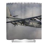 A Hercules C130j Transport Aircraft  Shower Curtain