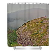 A High Point On Signal Hill National Historic Site In Saint John's-nl Shower Curtain