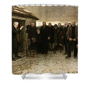 A Highland Funeral Shower Curtain
