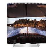 A Hinckley Picnic Boat Travels Shower Curtain