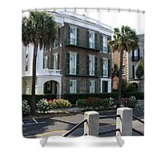 A Historic Home On The Battery - Charleston Shower Curtain