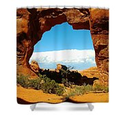 A Hole New World Shower Curtain