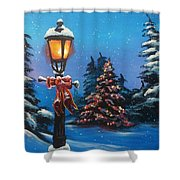 A Holiday Carol Shower Curtain