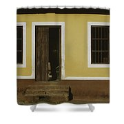 A House Is Made Of Walls And Beams A Home Is Built With Love  Shower Curtain